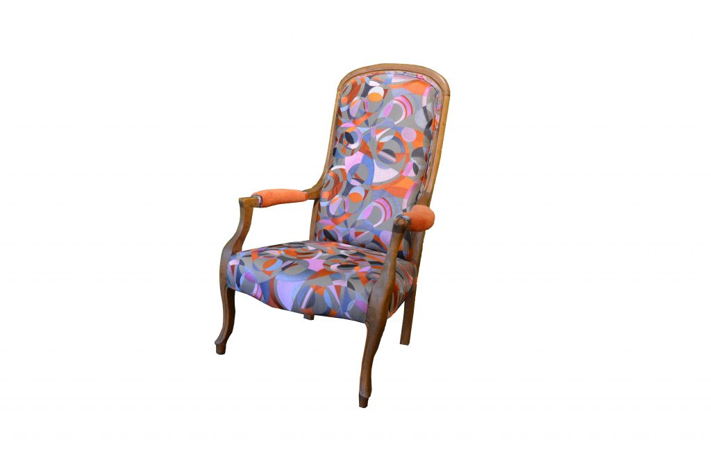 Vintage Chair - Embroidered Romo Silk